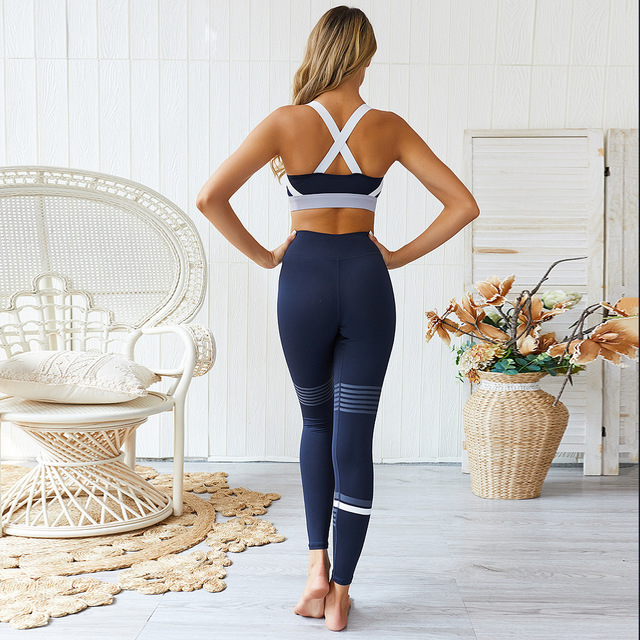 2019 New Women Sports Active Wear Gym Yoga Fitness Workout Clothes Legging Set Jogging Suits For Training Womens Sport Bra Pants 4