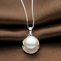 Sinya Natural pearls pendant necklace for women in 925 sterling silver AAAAA Pearls diameter 10 11mm high luster 2017 sale hot