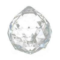 THGS 10pcs Crystal Glass Lamp Chandelier Prisms Party Decor Hanging Drop Pendant 40mm