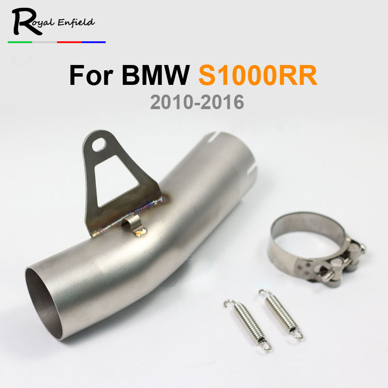 Motorcycle S1000RR Exhaust Middle Pipe 2010-2016 Year Stainless Steel Motorbike Muffler Exhaust Connect Link Mid Pipe Escape