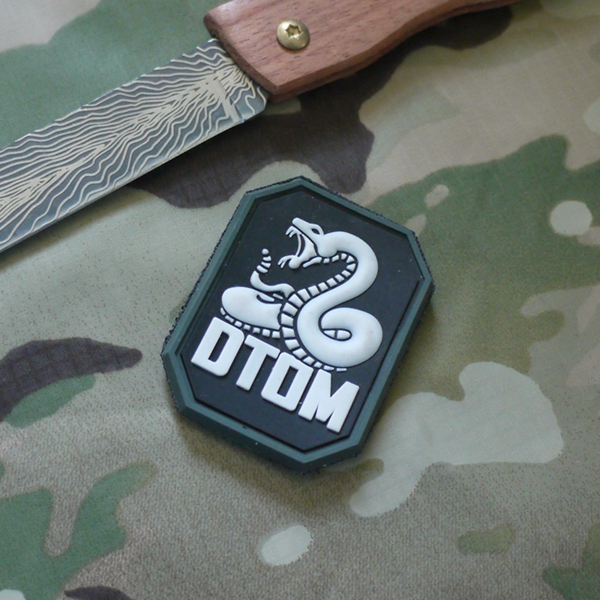 Arts,crafts & Sewing Analytical 5pcs Rubber Emblem Dtom Tactical Patch Pvc 3d Snake Morale Armband Hook Army Brassard Combat Badge Comfortable Feel