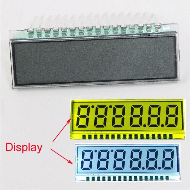 EDS826 6-бит TN ЖК-дисплей Дисплей модуль 40*14*2.8 мм 3.0 В 8 символов ЖК-дисплей Экран цифра часы Подсветка