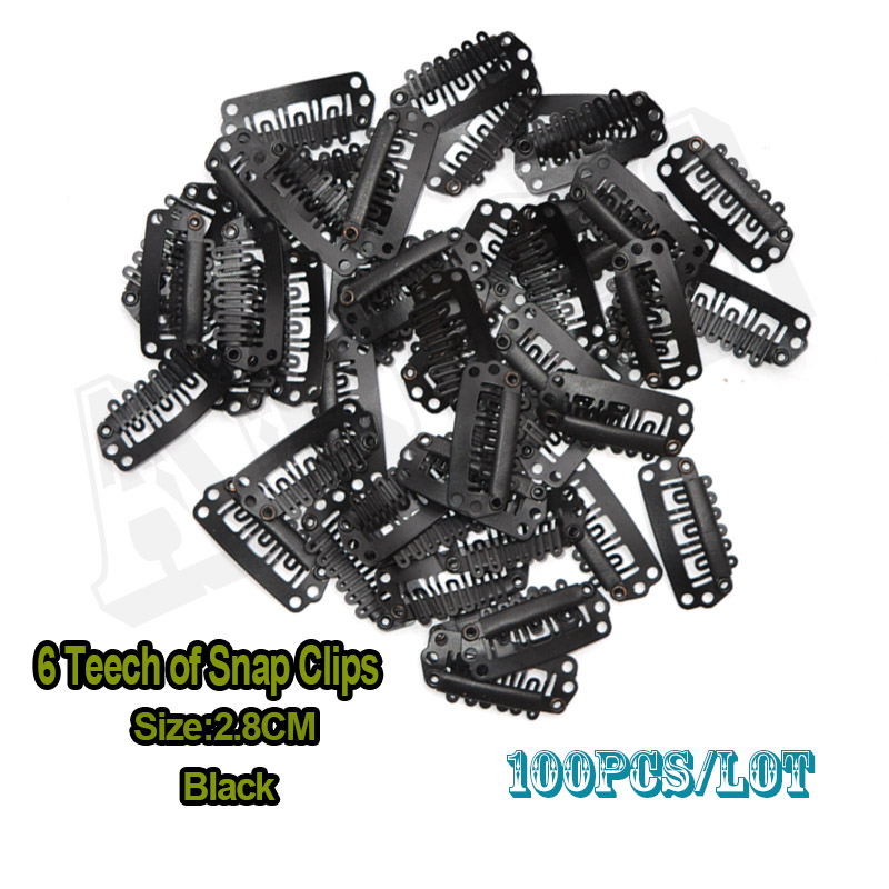 100pcs 28cm Shape Wig Clips Snap Clips On Teeth Hair Clips For