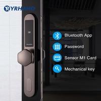 Smart Door Lock WiFi, App Digital Door Lock Bluetooth Smart Password Lock Pin Code Electronic Door Lock with Sliding mortise