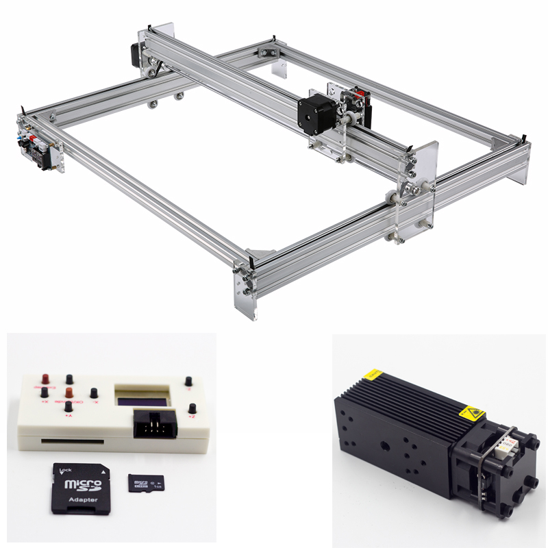 Mini Laser Engraving CNC Machine Made Of Aluminum alloy and Acrylic Frame Material for Wood 1