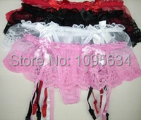 Women Sexy Lingerie Accessories Garter Belt Mini Lace Dress Intimate Accessory 4 colors