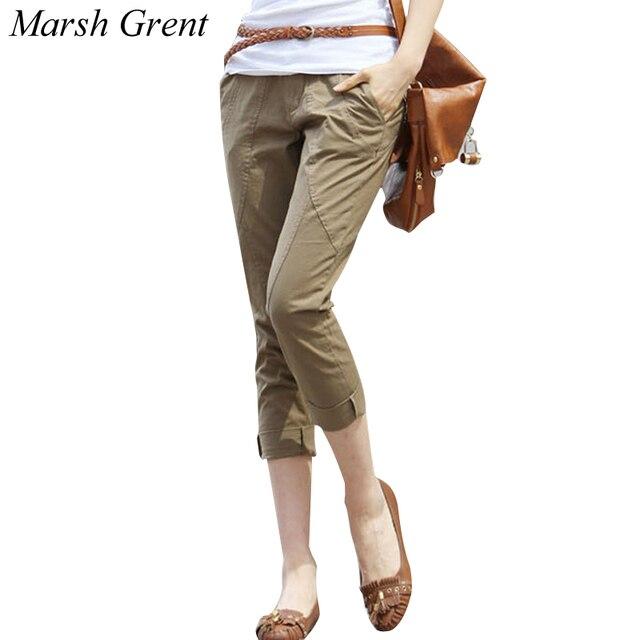 996d9e913efff 2018 Summer Women Cotton Capris Pants Korean Skinny pencil pants Plus size  Ankle-Length Pants