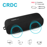 CRDC Bluetooth Speaker Wireless Stereo Portable MP3 Player Outdoor Mini Column Box Loudspeaker Handsfree With Mic