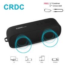 CRDC Bluetooth Hoparlör Kablosuz Stereo Portatif MP3 Çalar Açık Mini Sütun Kutusu Hoparlör Handsfree için Mic ile Xiaomi vb