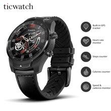 Оригинальные Смарт-часы Ticwatch Pro Bluetooth IP68 водонепроницаемая Поддержка NFC оплаты/Google Assistant износа ОС Google GPS часы
