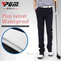 PGM Authentic Golf Plus Warm Velvet Pants Trousers Men S Golf Clothing High Elastic Thick Winter
