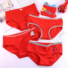 2019 girls underwear 4pc bag cotton low waist briefs ladies young student  panties Teenagers 5style a4db430ee