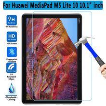 9H Tempered Glass Screen Protector For Huawei Mediapad M5 Lite 10 10.1 BAH2-W09 L09 W19 Tablet Protective Film slim business retro flip stand cover case for huawei mediapad m5 lite 10 case bah2 w09 bah2 l09 bah2 w19 10 1 tablet shell