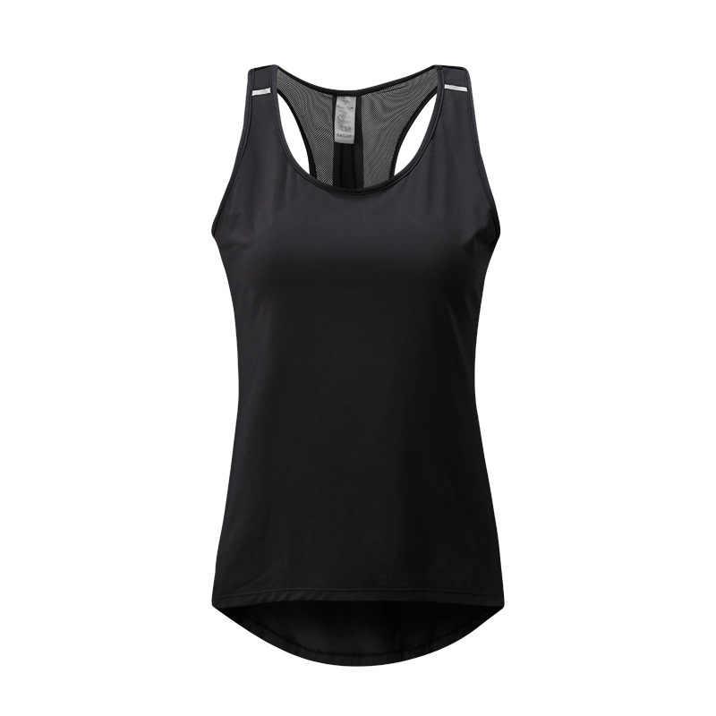 1824597992 ... Women Fitness Yoga Top Sexy Mesh Sleeveless Sport T-Shirt Sports Gym  Shirts Workout Running ...
