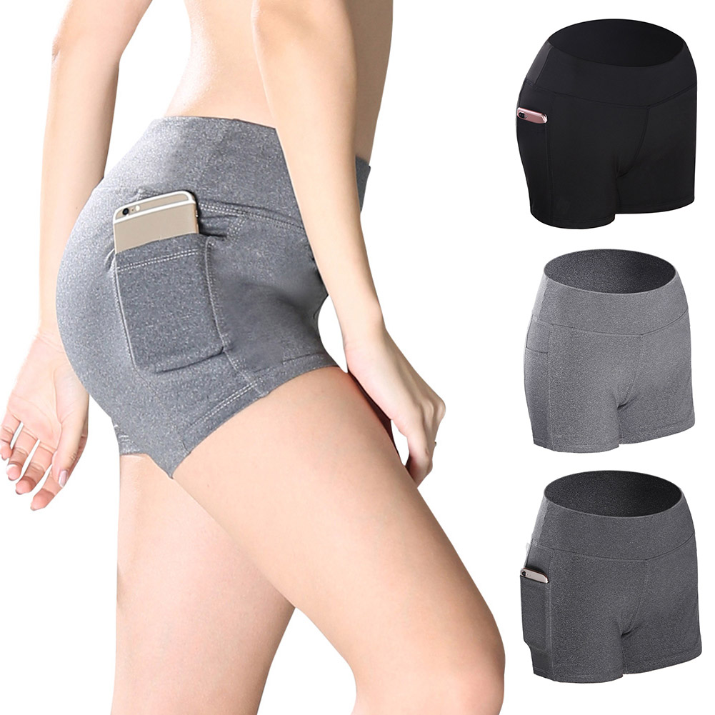 ★  Женские шорты йоги сплошной цвет беговые спортивные штаны пилатес танцы фитнес шорты PO66 ★