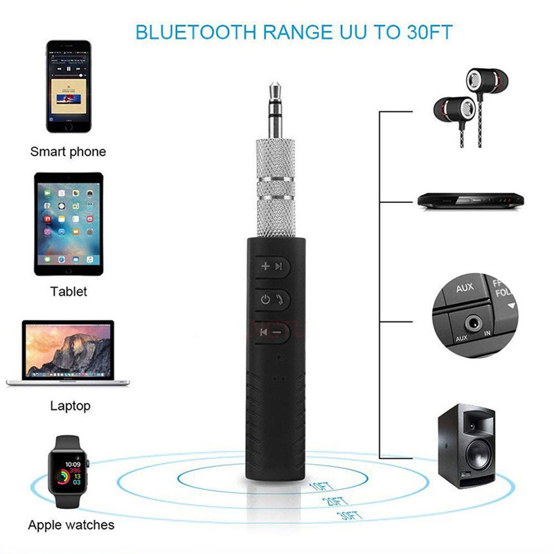 Car Bluetooth AUX 3.5mm Jack Bluetooth audio Receiver MIC Call Bluetooth Adapter 4.0 Car Transmitter Auto Music Receivers