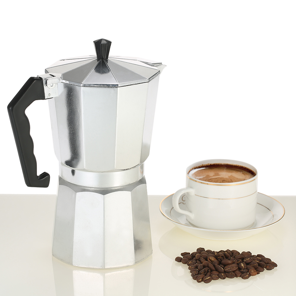 Espresso Coffee Maker Aluminum Moka Espresso Cafeteira Pot Mocha Coffee Machine 3cup/6cup/9cup/12cup