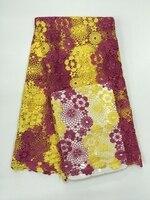 Mariage nigérian robe matériel maille tissu africain de lacet/net guipure cordon dentelle tissu pour la fête de mariage 5 mètres De Haut qualité
