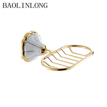 BAOLINLONG Brass Strong Suction Bathroom Soap Holder Shower Dish Tray Accessories