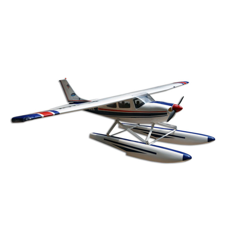 Balsa Wood Amphibious Cessna 182 Fixed Wing RC Airplane Model 1720mm Wing Span 60 Class Glow Electric With Float image