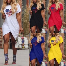 Women Summer Multi-color Dress Casual Street Wear Bandage Short A-line Mini Vintage Plus Size O-neck Ladies