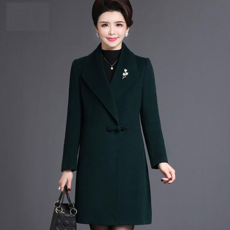 Laine Tempérament Qualité Vert Manteau Plus Long Veste Élégant D'hiver 5xl Nw950 De Vestes Femmes Mode bourgogne La Taille Haute gvb76Yyf