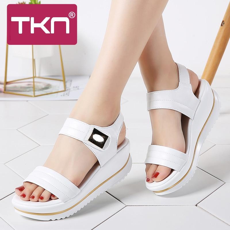 TKN 2019 summer women flat Platform