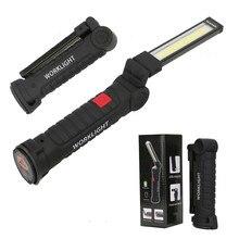 YHINT COB LED worklight USB build-in rechargeable 14500 battery flashlight magnet car repair lamp 360 foldable light lanterna