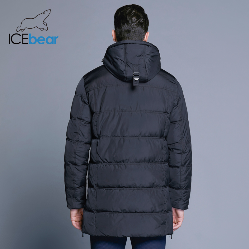 ICEbear 2018 Top Quality Warm Men's Warm Winter Jacket Windproof Casual Outerwear Thick Medium Long Coat Men Parka 16M899D 1