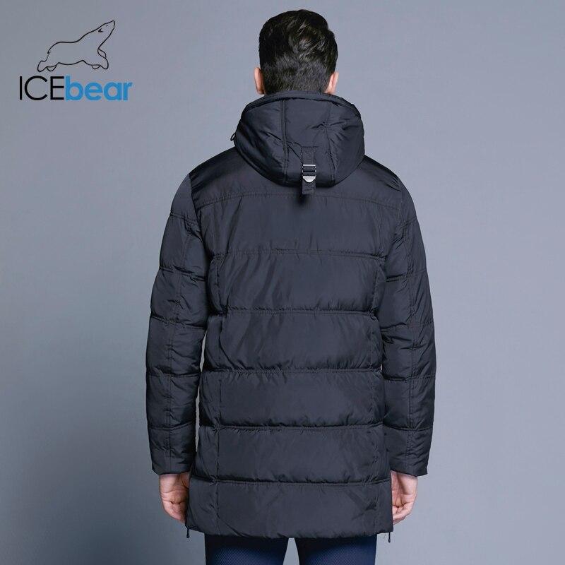 ICEbear 2018 Top Qualité Chaud Hommes de Chaud D'hiver Veste Coupe-Vent vêtements d'extérieur décontractés Épais Moyen Long Manteau Hommes Parka 16M899D - 4