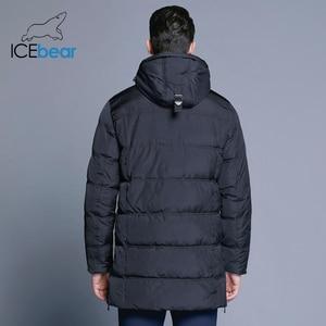 Image 4 - ICEbear 2019 最高品質暖かい男性の暖かい冬ジャケット防風カジュアルなアウターウェア厚いミディアムロングコートの男性のパーカー 16M899D