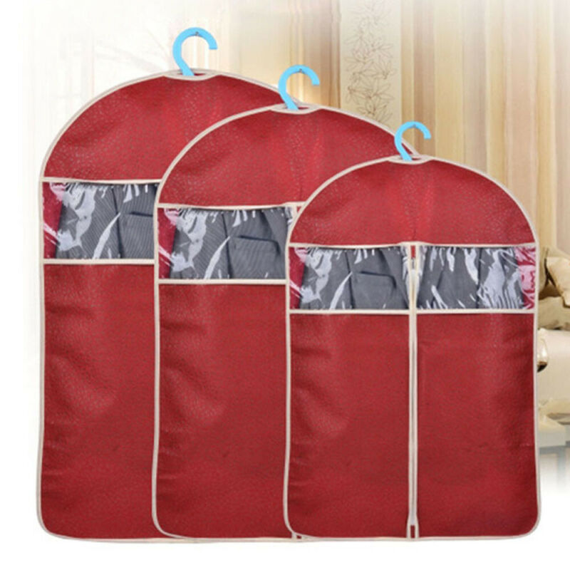Clothing Covers Dustproof Clothes Garment Suit Cover Bags Hanging Clothes Coat Dust Protector