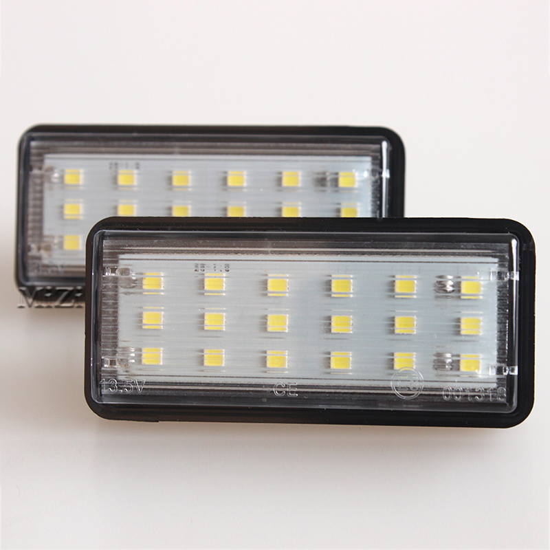 Error Free White Car LED Number License Plate Light Kit For Lexus LX470 GX470 Toyota Land Cruiser 120 Prado Land Cruiser 200 2x e marked obc error free 24 led white license number plate light lamp for bmw e81 e82 e90 e91 e92 e93 e60 e61 e39 x1 e84