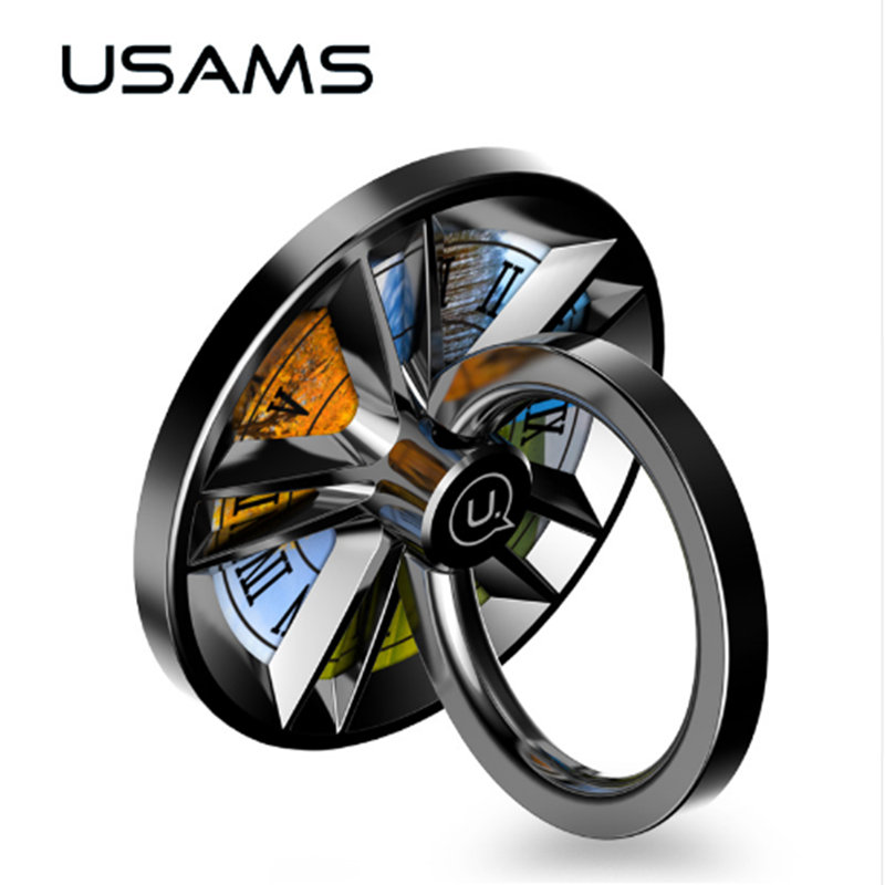 Finger Ring Holder USAMS 360 Degree Metal Smartphone Mobile Phone Hand Spinner Stand Holder for xiaomi huawei Samsung Table