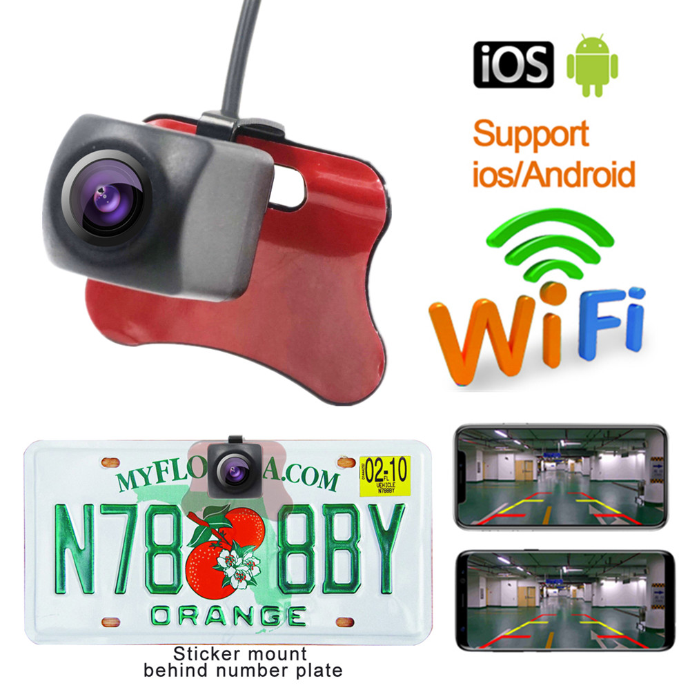 Carsanbo WIFI Wireless Car Rear View Camera 150 Viewing Angle Waterproof Car Reverse Camera For Andoid