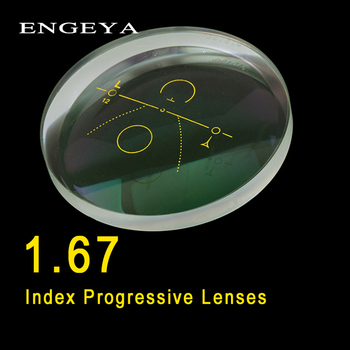 ENGEYA 1.67 Index Interior Progressive Lenses Free Form Multi Focal Lens Aspheric Resin Prescription Lenses With Green Coating