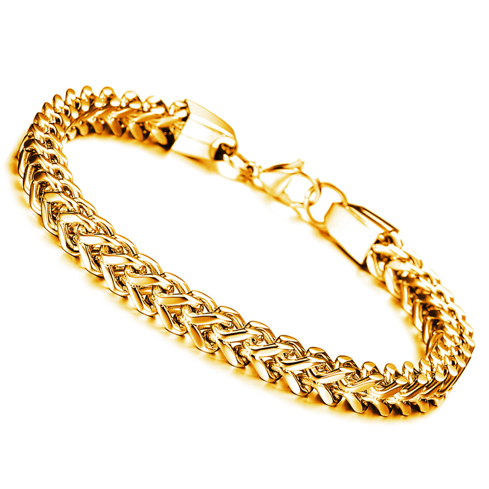 Mens Jewellery Stainless Steel Bracelet Men Jewelry Gold Color Chain  Bracelets Bangles 2017 Male Accessories Pulseras Hombre