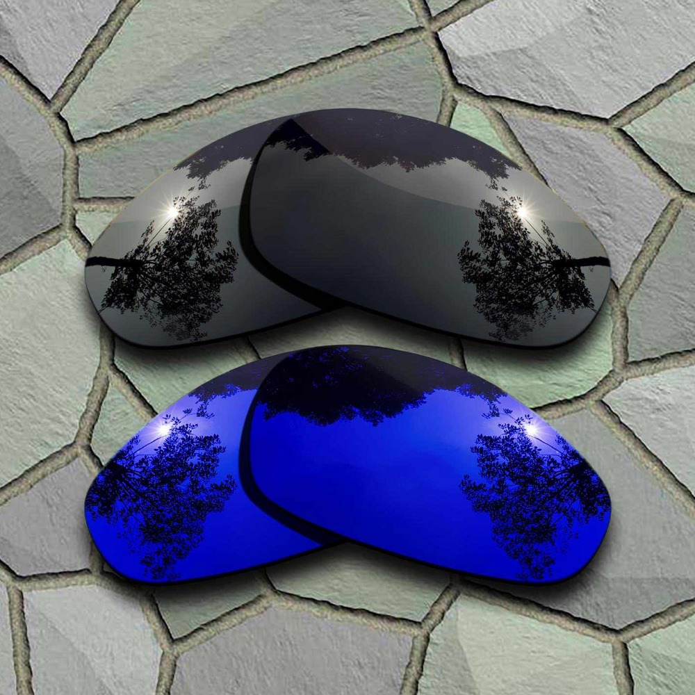 >Grey <font><b>Black</b></font>&<font><b>Violet</b></font> <font><b>Blue</b></font> Sunglasses Polarized Replacement Lenses for Oakley Juliet
