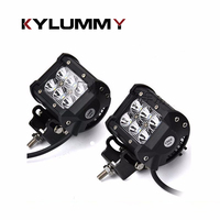 2 PCS 18W 4x4 Inch LED Car Work Light Bar Off Road Truck SUV Boat 4WD