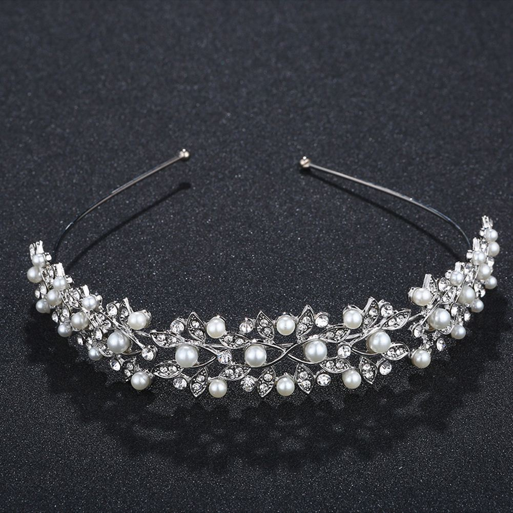 Crown Headband Vintage Crystal Bridal Tiaras Wedding Accessories Party Leaves Jewelry Rim for Hair