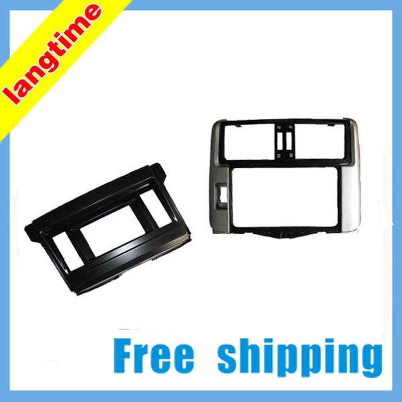 Free shipping-Car refitting DVD frame,DVD panel,Dash Kit, Fascia, Radio Frame for Toyota Prado GX ( left ),2DIN цена