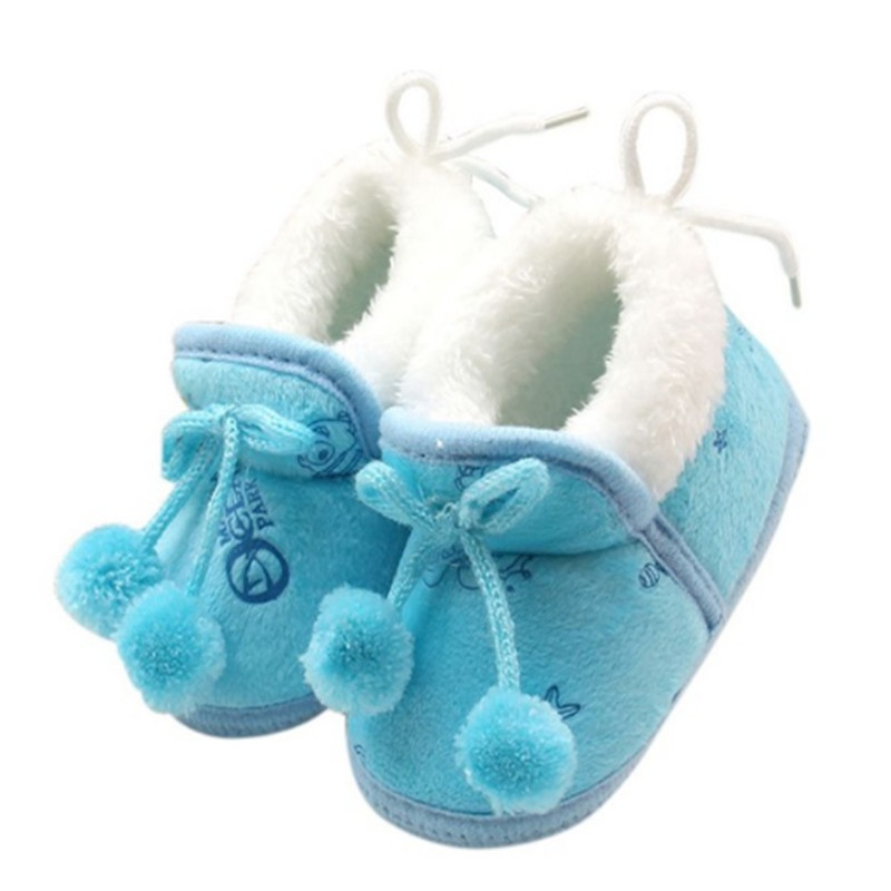 Cute Autumn Winter Kids Baby Boys Girls Cotton Warm Shoes Plush Shoes Boots 0-18 Months Baby Snow Boots ...
