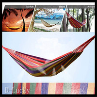 Free Shipping Double Hammock Camping Survival Hammock Parachute Cloth Portable Double Person Hammock Outdoor Leisure In