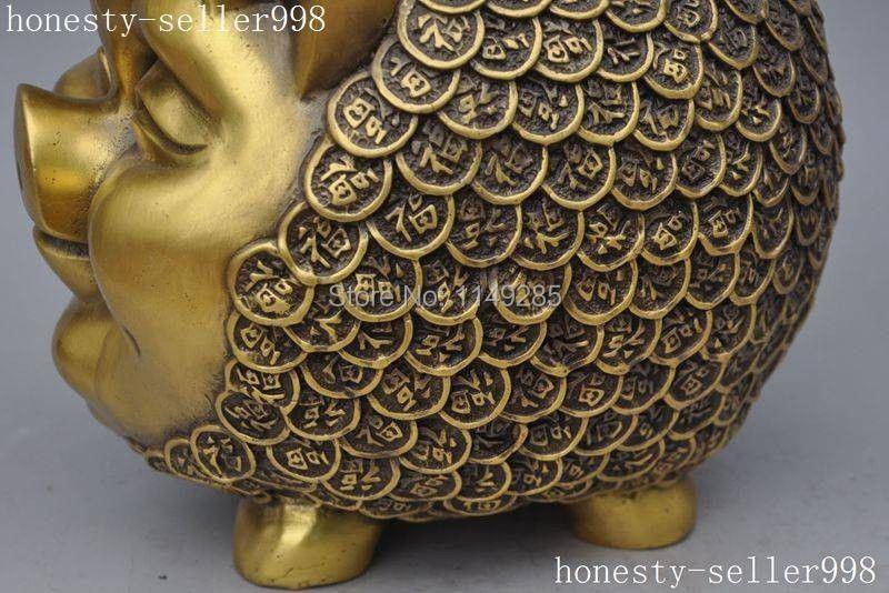 Julegave kinesisk fengshui bronze messing dyrekreds dyre dyr rigdom - Indretning af hjemmet - Foto 5