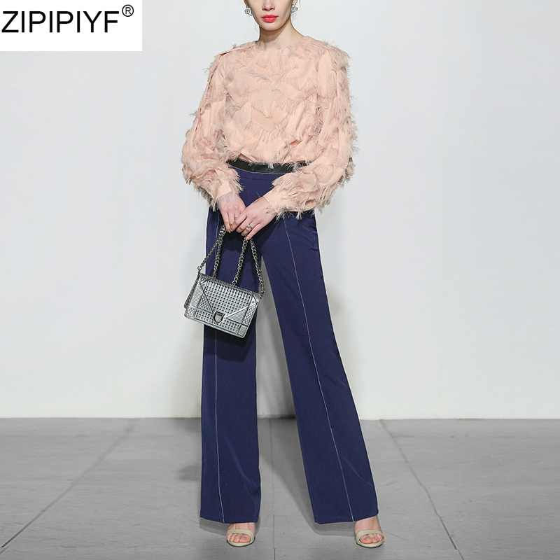 Spring 2018 New Woman jeans Mid Waist Wide Leg Pants Solid Casual Long Pants Pacthwork female denim trousers Pockets C119 bazaleas flower embroidered mom jeans female blue casual pants capris spring pockets jeans bottom casual pant