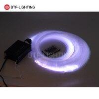 16W RGBW 200pcs*1.0mm*2M LED Fiber optic light Star Ceiling Kit Lights optical lighting+RF 24key Remote engine+5pcs crystal