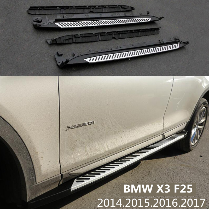 For BMW X3 F25 2014.2015.2016.2017 Car Running Boards Auto Side Step Bar Pedals HighQuality Brand New Modified Version Nerf Bars|side step nerf bars|nerf auto|nerf running boards - title=