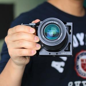 Image 2 - UURIG R009 木製ハンドグリップソニー A6400 A6300 金属ケージ A6400 カメラケージスライダービデオスタビライザー Dslr アクセサリー