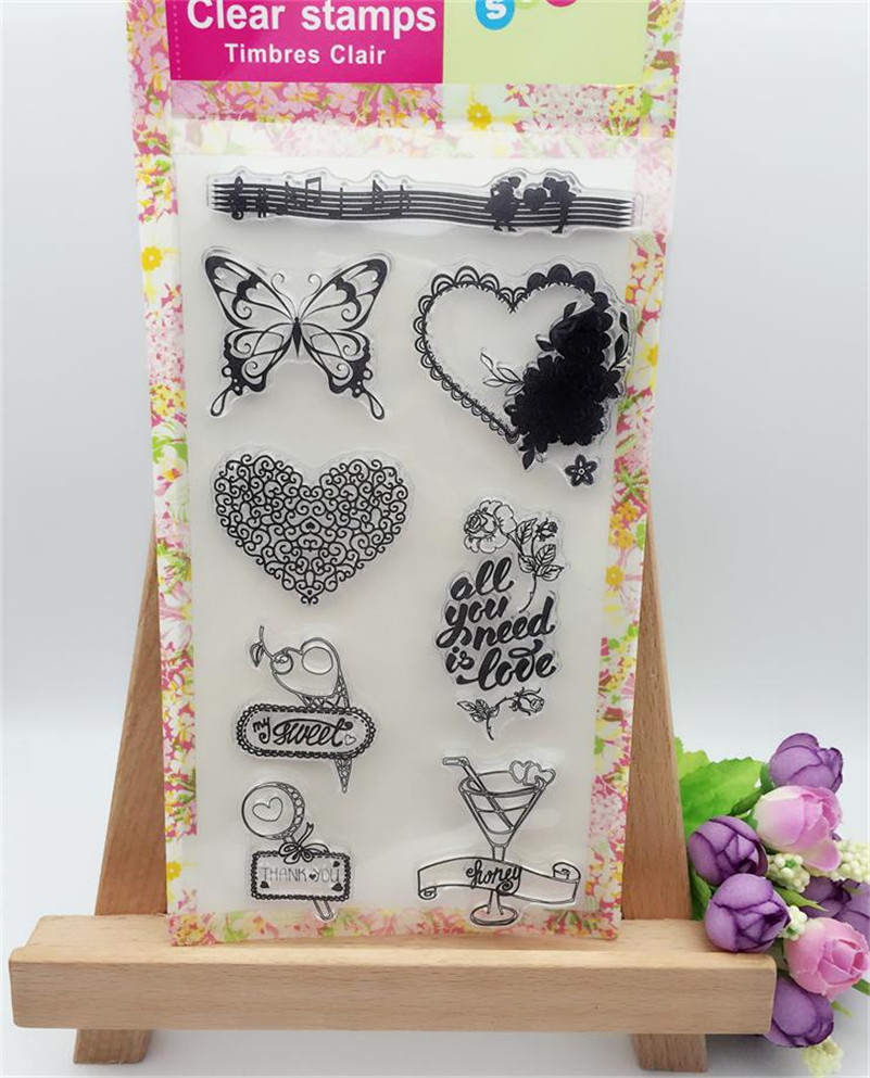scrapbooking DIY photo cards about English letters silicon stamps transparent stamp for Christmas LL-263 about