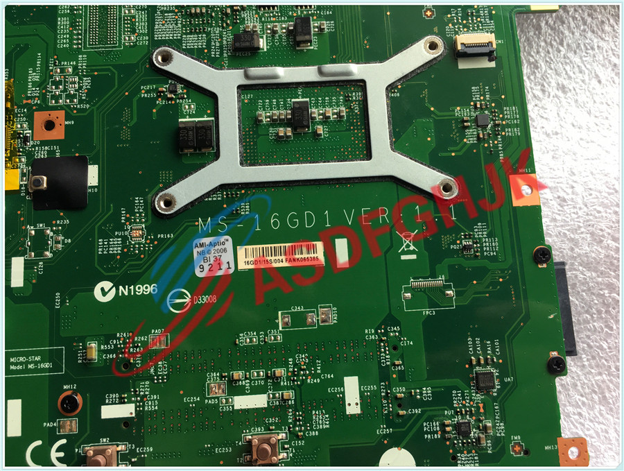 Original FOR MSI CX61 CR60 LAPTOP MOTHERBOARD EDP MS 16GD MS 16GD1 fully tested in Laptop Motherboard from Computer Office